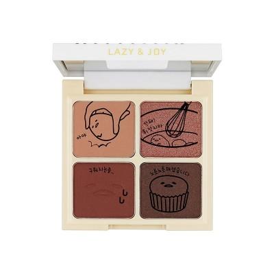 Палетка теней для век Holika Holika Gudetama Cupcake Eye Palette Shadow тон 01, красный вельвет: фото