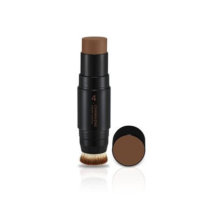 Бронзер-карандаш для лица с кисточкой Covermazing Super Fit Founstick Holika Holika, тон 04, коричневый: фото