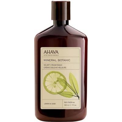 Бархатистое жидкое крем-мыло лимон и шалфей Ahava Mineral Botanic 500 мл: фото