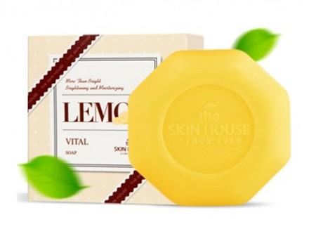 Мыло витаминизированное с экстрактом лимона THE SKIN HOUSE Lemon vital soap 90 г: фото