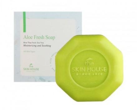 Мыло с экстрактом алоэ THE SKIN HOUSE Aloe fresh soap 90 г: фото