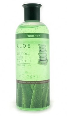 Тонер с экстрактом алоэ FARMSTAY Visible differerce moisture toner aloe 350мл: фото
