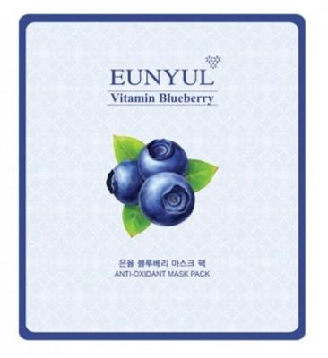 Тканевая маска с экстрактом черники EUNYUL Blueberry mask pack 30 мл: фото