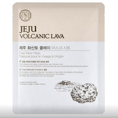 Маска тканевая с вулканической лавой THE FACE SHOP Jeju Volcanic Lava Clay Face Mask: фото