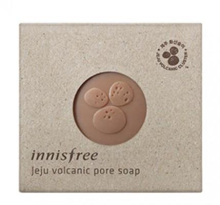 Мыло косметическое с вулканическим пеплом INNISFREE Jeju Volcanic Pore Soap: фото
