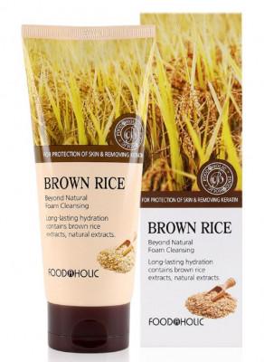 Пенка для умывания с коричневым рисом FoodaHolic Brown Rice Beyond Natural Foam Cleansing 180мл: фото