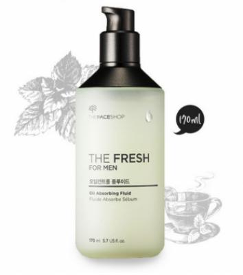 Флюид от жирного блеска для мужчин THE FACE SHOP The fresh for men oil absorbing fluid 170 мл: фото