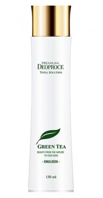Эмульсия с зеленым чаем DEOPROCE Premium green tea total solution emulsion 150мл: фото