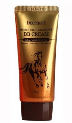 BB-крем с лошадиным жиром DEOPROCE Horse oil hyalurone BB SPF50 №21 Natural beige 60г: фото