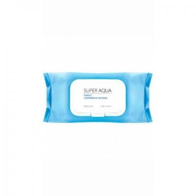Очищающие салфетки для лица MISSHA Super Aqua Perfect Cleansing Oil In Tissue Large Volume: фото