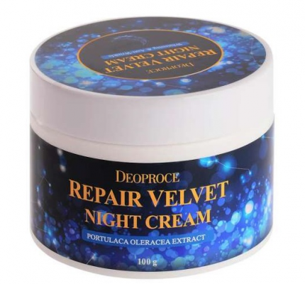 Крем ночной восстанавливающий DEOPROCE Moisture repair velvet night cream 100г: фото