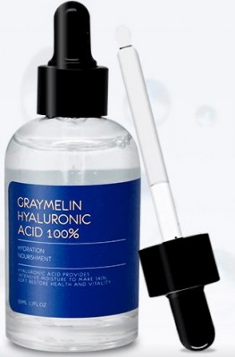 Ампульная сыворотка со 100% гиалуроновой кислотой GRAYMELIN Hyaluronic acid 100% 50мл: фото