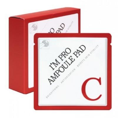 Пэд, пропитанныйвитамином С 15% для яркости кожи WISH FORMULA I'm Pro Ampoule Pad-C Red 7мл: фото