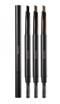 Карандаш для бровей OTTIE Natural Drawing Eye Brow Pencil №01 Black: фото