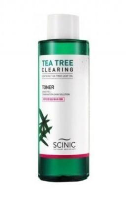 Очищающий тонер с чайным деревом для проблемной кожи SCINIC Tea tree clearing toner 500мл: фото