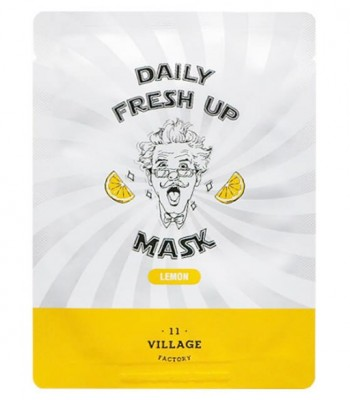 Маска с экстрактом лимона VILLAGE 11 FACTORY Daily Fresh up Mask Lemon 20г: фото