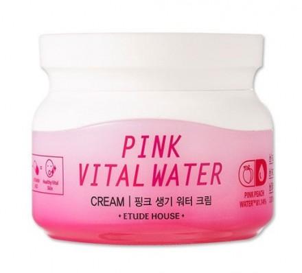 Крем увлажняющий с розовой персиковой водой ETUDE HOUSE Pink Vital Water Cream: фото