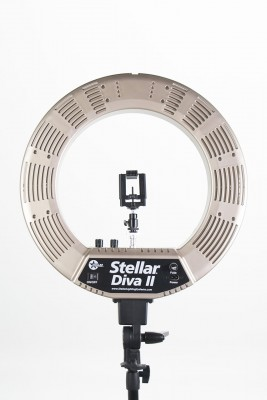Кольцевая лампа Stellar LED Diva Ring Light II Gold: фото