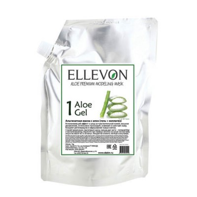Альгинатная маска ELLEVON с алоэ гель + коллаген 1000г: фото