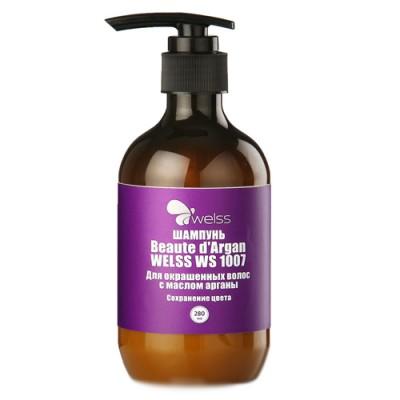 Шампунь для окрашенных волос с маслом арганы WELSS Beaute d`Argan 280мл: фото