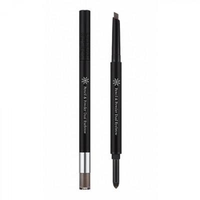 Карандаш для бровей MISSHA The Style Pencil & Powder Dual Eye Brow Brown: фото