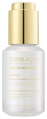 Сыворотка Регенерирующая MISSHA Super Aqua Cell Renew Snail Ampoule 30 мл: фото