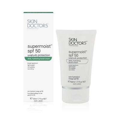 Увлажняющий солнцезащитный крем для лица SKIN DOCTORS Supermoist™ SPF50 50 мл: фото