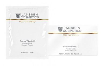 Маска розовая моделирующая с ацеролой и витамином C Janssen Cosmetics Acerola Vitamin C Powder Mask 30г: фото