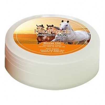 Крем для лица и тела на основе лошадиного жира DEOPROCE NATURAL SKIN HORSE OIL NOURISHING CREAM 100g 100гр: фото