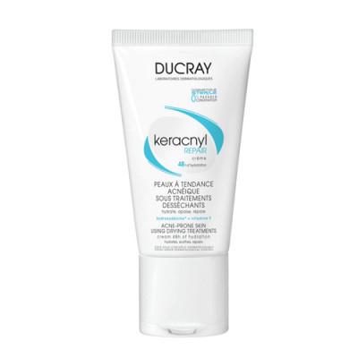 Крем восстанавливающий стерильный для проблемной кожи Ducray Keracnyl Repair 50мл: фото