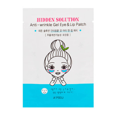 Патчи от морщин вокруг глаз и губ A'PIEU Hidden Solution Anti-wrinkle Gel Eye & Lip Patch: фото