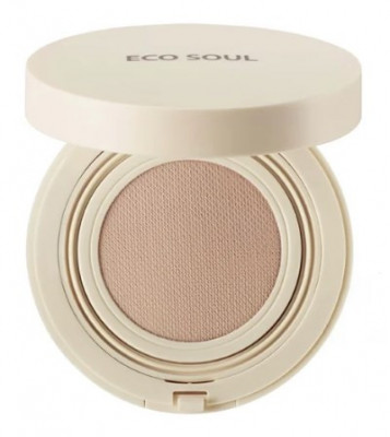 Тональный крем THE SAEM Eco Soul Bounce Cream Foundation 21 Light Beige N 15гр: фото