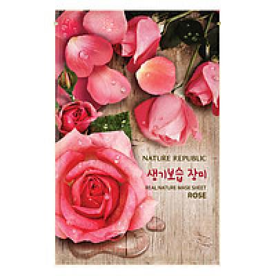 Маска для лица листовая NATURE REPUBLIC REAL NATURE ROSE MASK SHEET 23гр: фото