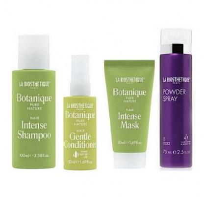 Набор в тубе La Biosthetique Beauty Box Четверг: Intense Shampoo 100 мл, Gentle Conditioner 50 мл, Intense Mask 50 мл, Powder Spray 75 мл: фото