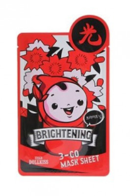 Маска тканевая осветляющая Baviphat Urban Dollkiss 3-GO Mask Sheet Brightening 25г: фото
