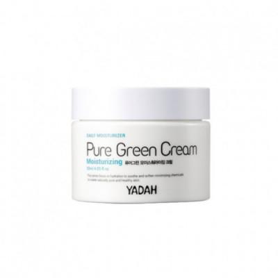 Крем для лица увлажняющий YADAH PURE GREEN MOISTURIZING CREAM 50мл: фото