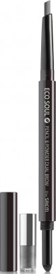 Карандаш-пудра для бровей THE SAEM Eco Soul Pencil & Powder Dual Brow 03 black gray 0,5г*0,3г: фото
