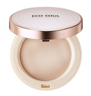 Пудра санскрин THE SAEM Eco Soul UV Sun Pact 21 Light Beige 11г: фото