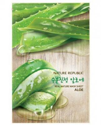 Маска для лица листовая NATURE REPUBLIC REAL NATURE ALOE MASK SHEET 20мл: фото