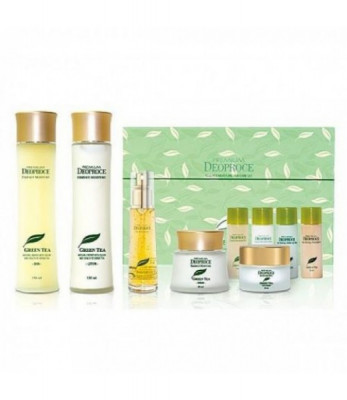 Набор для лица уходовый PREMIUM DEOPROCE GREENTEA TOTAL SOLUTION 5 SET 150мл*2 / 60мл / 50мл/ 30мл*5: фото