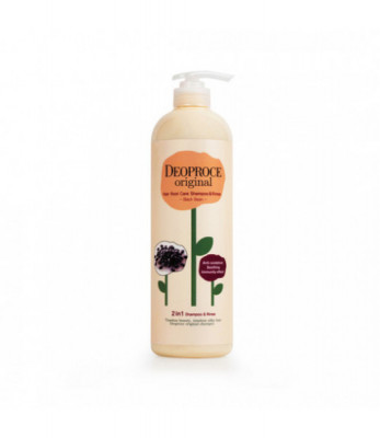 Шампунь-бальзам 2 в 1 черника DEOPROCE ORIGINAL SHINY CARE 2 IN 1 SHAMPOO BLUEBERRY 1000мл: фото