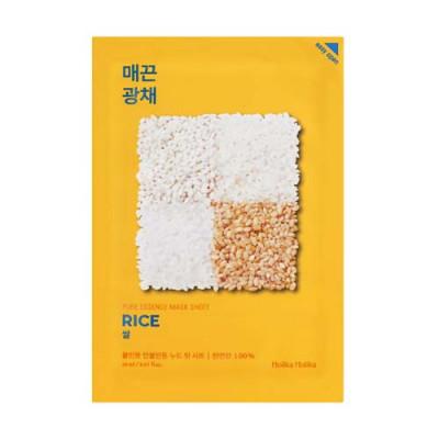 Маска тканевая против пигментации Holika Holika Pure Essence Mask Sheet Rice, рис 20мл: фото
