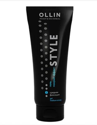 """Гель """"мокрый эффект"""" средней фиксации OLLIN STYLE Wet Gel Medium 200мл: фото"""