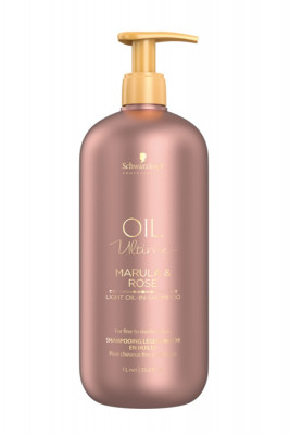 Шампунь для тонких волос Schwarzkopf Professional Oil Ultime lignt-Oil-in-Shampoo 1000мл: фото