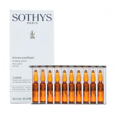Сыворотка очищающая себорегулирующая Sothys Oily Skin Purifying Serum 20х2 мл: фото