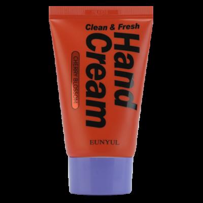 Крем для рук с вишневым цветом EUNYUL CLEAN & FRESH CHERRY BLOSSOM HAND CREAM 50г: фото
