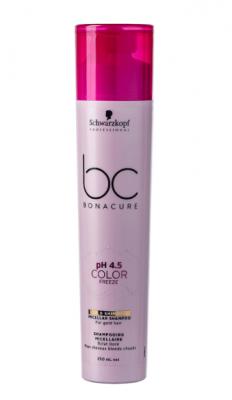 Шампунь золотистый Schwarzkopf Professional BC pH 4.5 Color Freeze 250 мл: фото