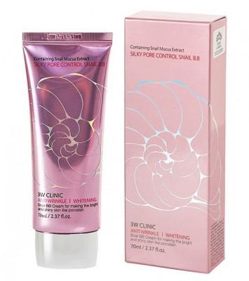 ВВ крем с улиточным муцином 3W CLINIC Silky Pore Control BB Cream: фото