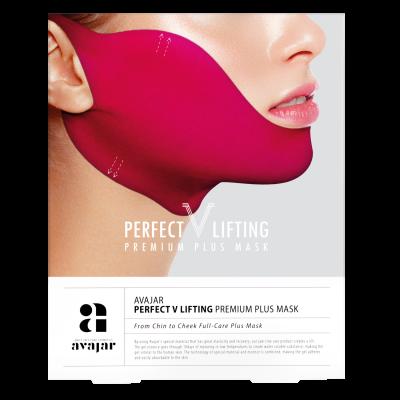 """Маска лифтинговая """"Плюс"""" розовая AVAJAR perfect V lifting premium plus mask 1 шт: фото"""