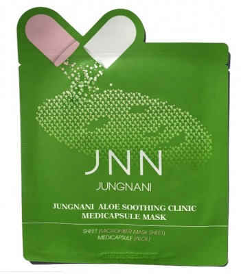 Маска тканевая с алое JUNGNANI JNN ALOE SOOTHING CLINIC MEDICAPSULE MASK 23мл: фото